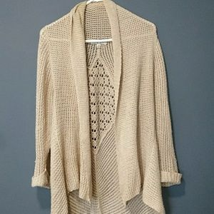 Cabi knitted open front sweater size S